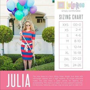 LuLaRoe Dresses - Lularoe Julia Dress Small